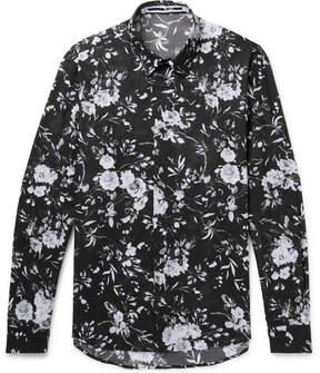 McQ Shields Floral-Print Cotton-Voile Shirt