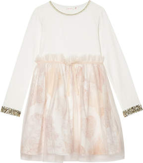 Billieblush Billie Blush Sequinned cotton long-sleeved dress 4-12 years