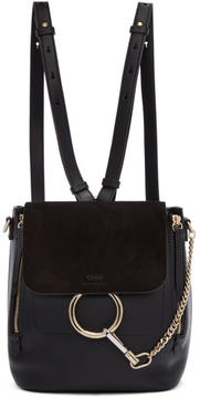 Chloé Black Small Faye Backpack