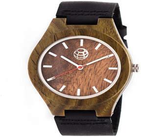Earth Wood Unisex Brown Strap Watch