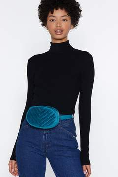 Nasty Gal WANT Quilt for Stamina Velvet Belt Bag