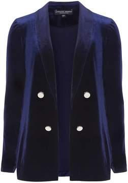 Dorothy Perkins Midnight Blue Velvet Suit Jacket