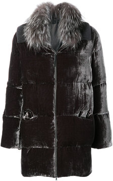 Fabiana Filippi detachable fox fur trim coat
