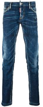 DSQUARED2 Slim creased detail jeans