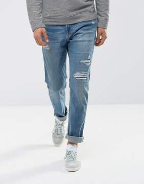 Hollister Jeans Skinny Fit Repair Mid Wash