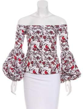 Caroline Constas Abstract Pattern Blouse