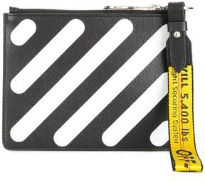 Off-White diagonals double pouch