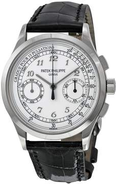 Patek Philippe Complications Chronograph Silvery White Dial Men's Watch