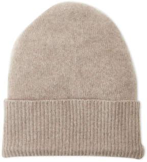 Portolano Solid Cashmere Ribbed Cuff Hat