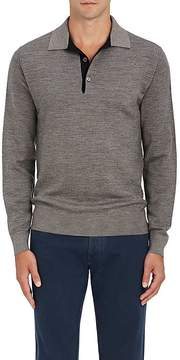 Luciano Barbera Men's Wool-Silk Polo Sweater