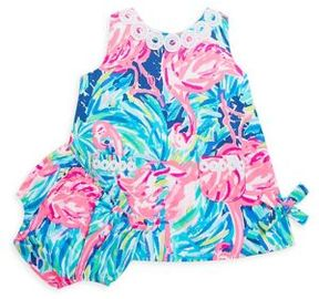 Lilly Pulitzer Baby's Vintage Dobby Two-Piece Shift Dress & Bloomers Set