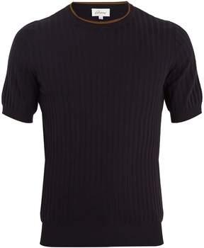 Brioni Short-sleeved cotton-blend sweater