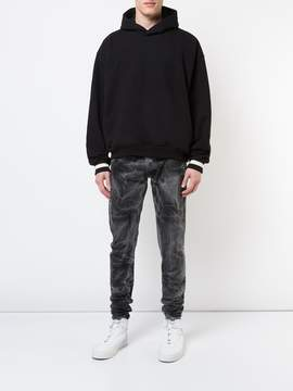 Fear Of God Black bleached effect slim-fit jeans