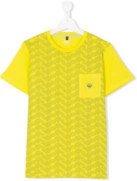 Emporio Armani Kids TEEN monogram print T-shirt