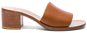 K. Jacques Leather Caprika Sandals in Neutrals,Brown.