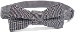 Isaac Mizrahi Dark Gray Linen Bow Tie