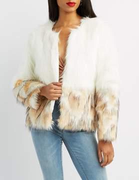 Charlotte Russe Ombre Faux Fur Coat