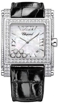 Chopard Happy Sport Square II Mother of Pearl Diamond Ladies Watch