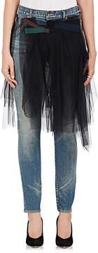 Kolor Women's Tulle-Skirt Skinny Jeans