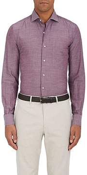 Loro Piana Men's Alain Cotton-Cashmere Shirt