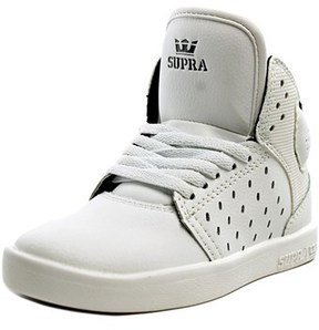 Supra Atom Round Toe Leather Sneakers.