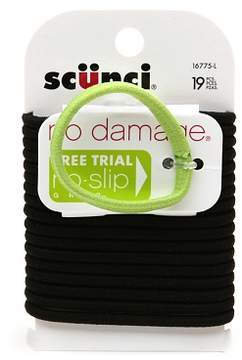 Scunci Effortless Beauty No Damage Hair Elastics Medium Black