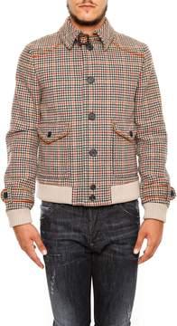 Prada Linea Rossa Houndstooth Mouliné Jacket
