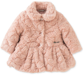 Calvin Klein Faux-Fur Peplum Coat, Baby Girls (0-24 months)