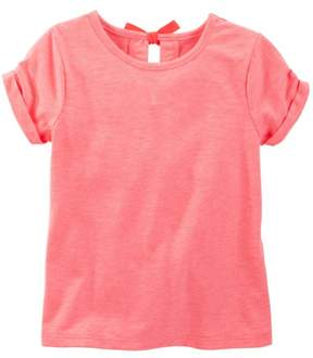 Carter's OshKosh B'gosh Toddler Clothing Outfit Little Girls Bow-Back Top Coral