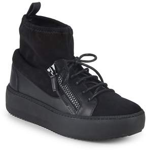 Giuseppe Zanotti Men's Lace-Up Sock-Lined Sneakers