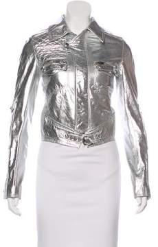 Christian Dior 2007 Metallic Leather Moto Jacket