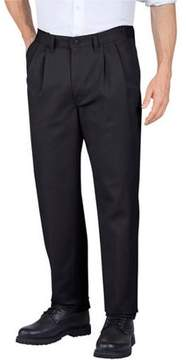 Dickies Genuine Men's Pleated Comfort-Waist Work Pants