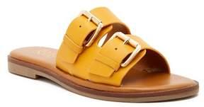 Franco Sarto Karina Leather Buckle Sandal