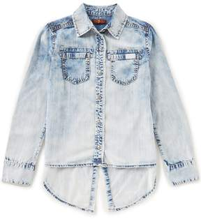 7 For All Mankind Big Girls 7-16 Long-Sleeve Patch-Pocket Shirt