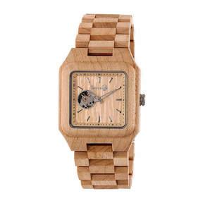 Earth Wood Black Rock Unisex Brown Bracelet Watch-Ethew4401