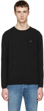 Acne Studios Black Dasher O Face Sweater