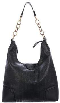 Burberry Embossed Leather Hobo