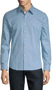 Hyden Yoo Men's Checkered Cotton Slim-Fit Button-Down Shirt