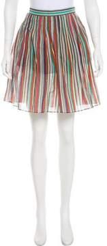 Cacharel Striped Knee-Length Skirt