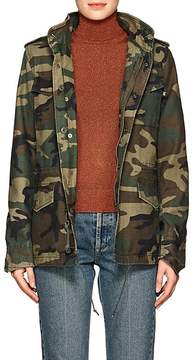 Alpha Industries Women's thedrop@barneys: M-65 Defender Camouflage Cotton Field Jacket