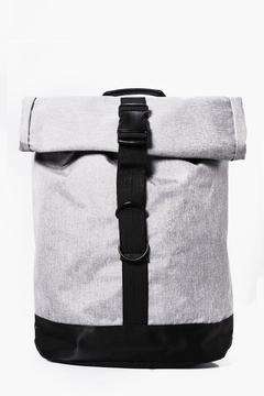 boohoo Grey Roll Up Backpack