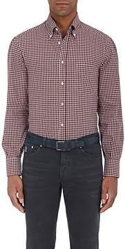 Brunello Cucinelli Men's Checked Cotton Twill Shirt