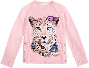 Jessica Simpson Tiger Graphic & Patch Long-Sleeve Shirt, Big Girls (7-16)