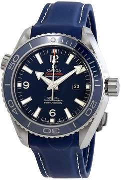 Omega Planet Ocean Co-Axial Blue Dial Mid-size Titanium Watch