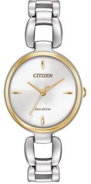 Citizen L EM0424-53A Silver Analog Eco-Drive Women's Watch