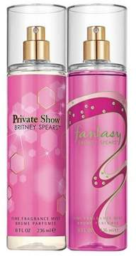 Britney Spears Fantasy & Private Show by Women's Fine Fragrance Mist - 2pc