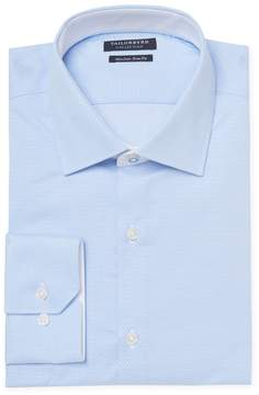 Tailorbyrd Men's Embroidered Trim Fit Dress Shirt
