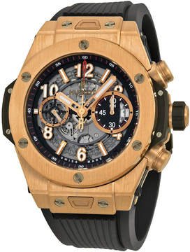 Hublot Big Bang Skeleton Dial 18kt Rose Gold Men's Watch 411OX1180RX