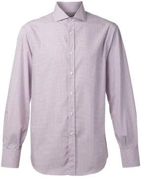 Brunello Cucinelli Spread Collar Check Shirt