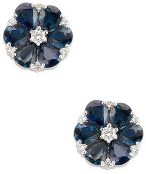 Amrapali Women's Diamond and Blue Sapphire Earrings